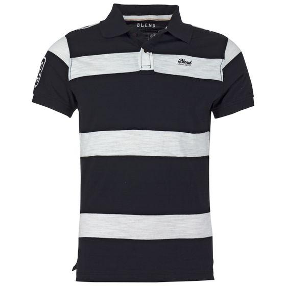 competitive price e672b ea749 BLEND Herren Poloshirt Schwarz   O46