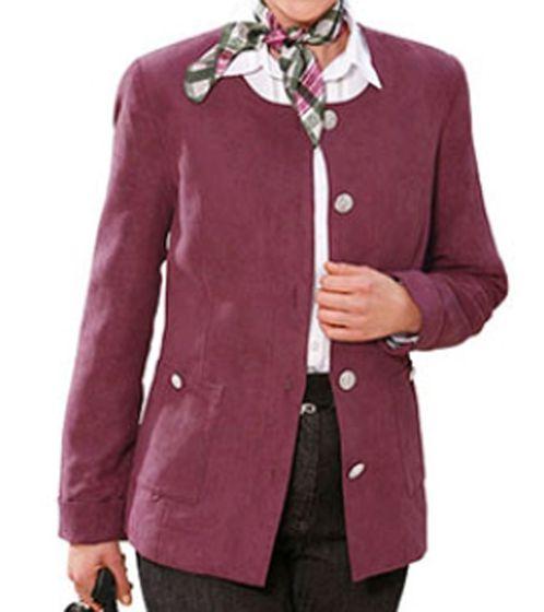 AproductZ Paisley-Blazer herrliche Damen Jacke in Veloursleder-Optik Kurzgröße Bordeaux