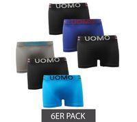 6er Pack GARCIA PESCARA Herren Boxershorts klassische Unterwäsche Bunt