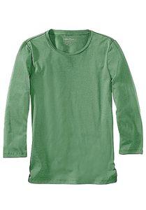 Eddie Bauer Basic-Shirt schlichtes Damen 3/4-Arm T-Shirt Grün