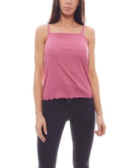 NA-KD Top simple spaghetti dames top violet