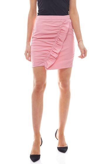 NA-KD Mini Skirt Elegant Ladies Ruffle Skirt Pink