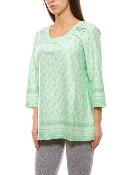 Sheego shirt à manches 34 airy ladies chemise à manches longues vert