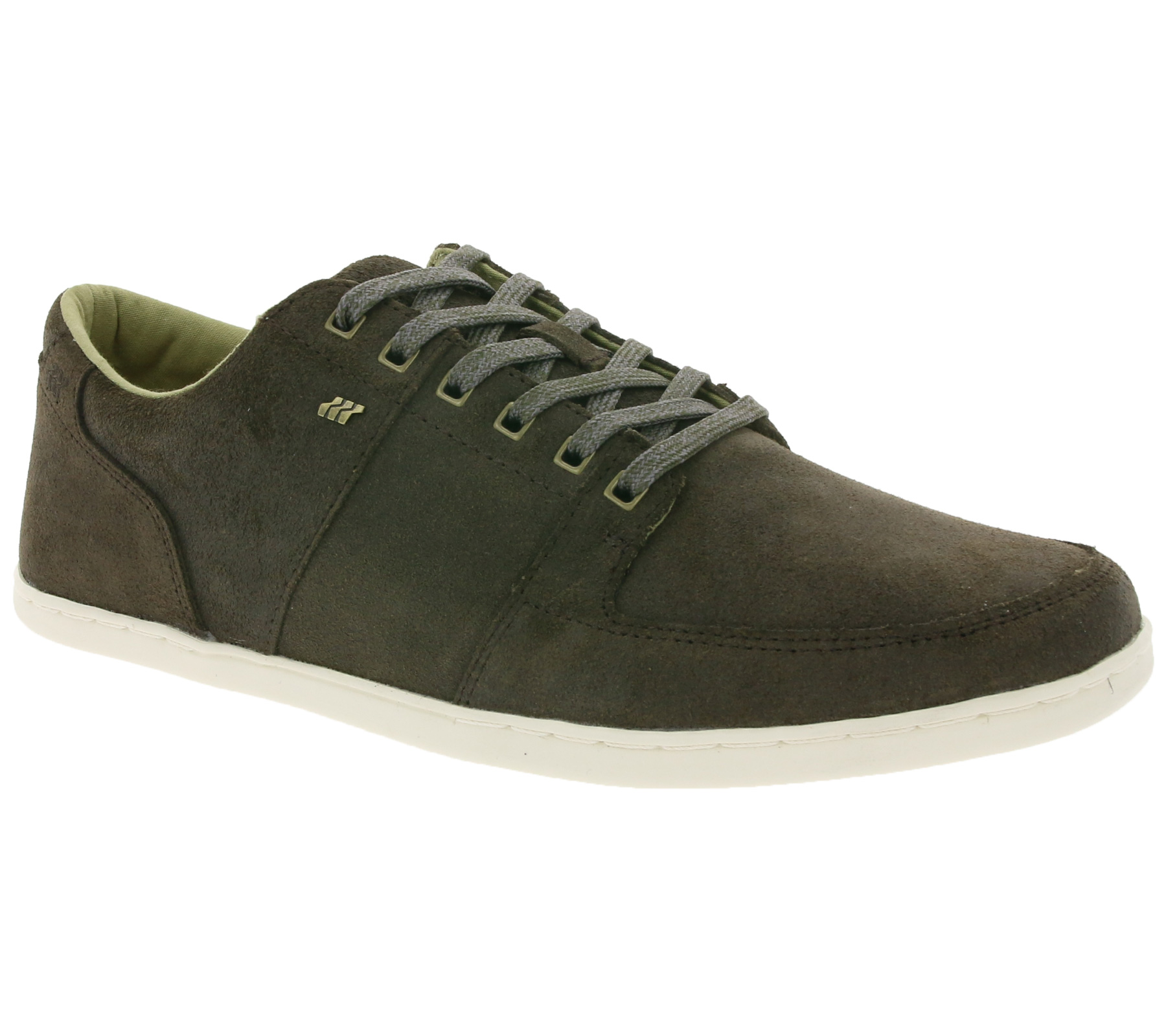 boxfresh cladd grey white mens leather trainers shoes men's
