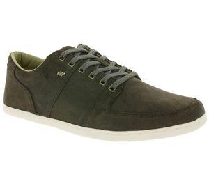 Boxfresh Schuhe robuster Herren Echtleder Low Top Sneaker Khaki
