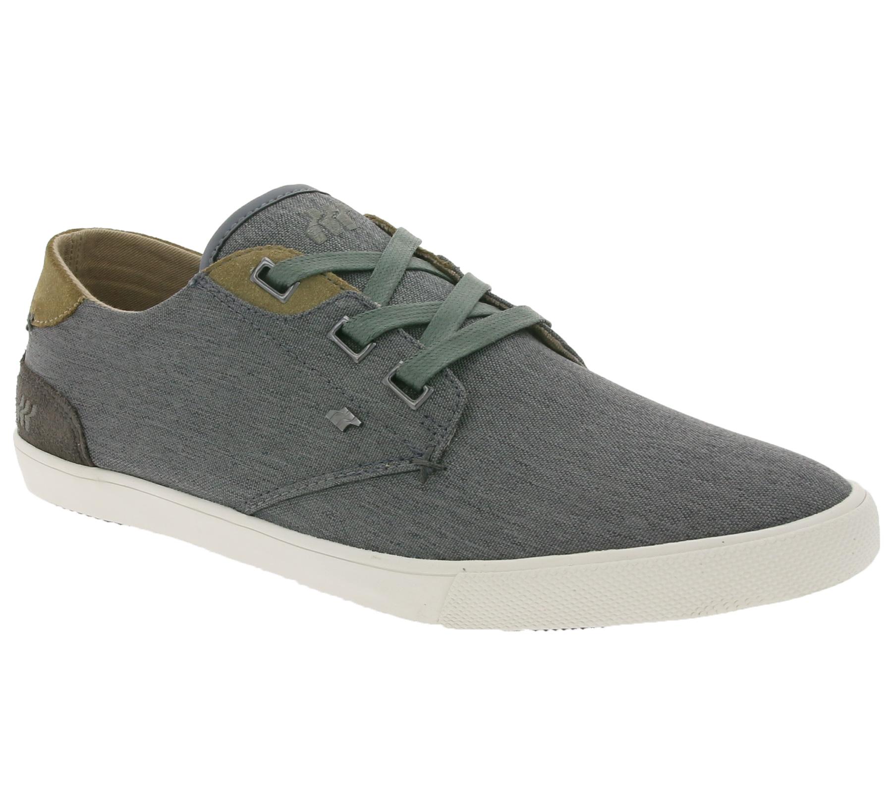 Boxfresh Schuhe bequeme Herren Low-Top Sneaker Turn-Schuhe Freizeit-Schuhe Grau