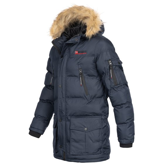 Geographical Norway Navy Jacket Bravici Mens Winter NOwv8nm0