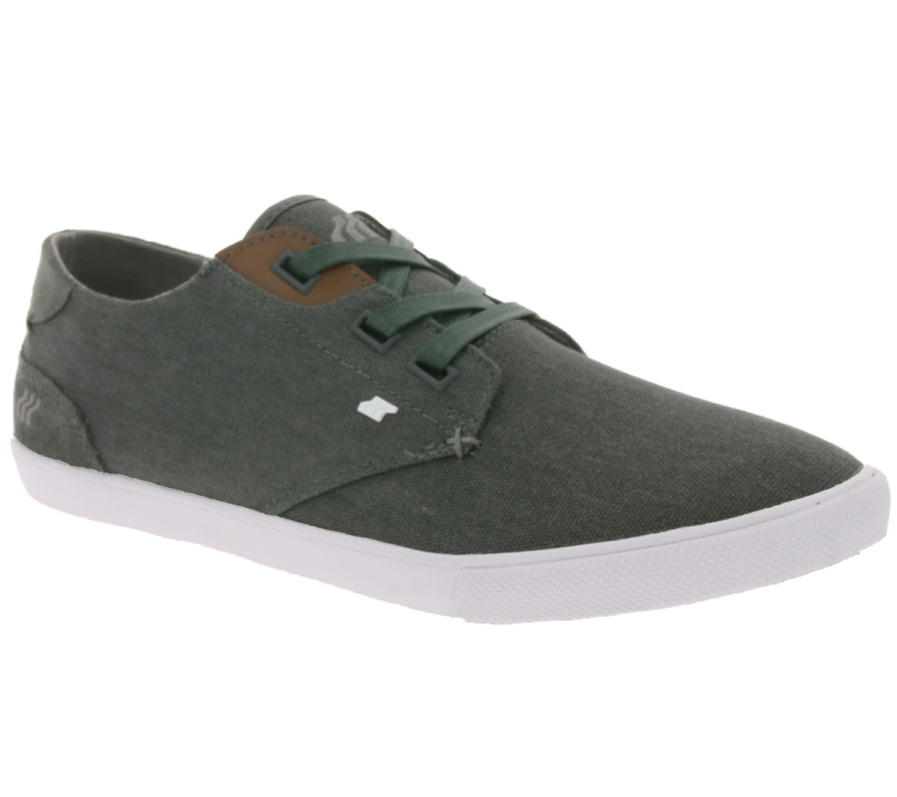 Boxfresh Schuhe schicke Herren Low Top Sneaker Dunkelgrau