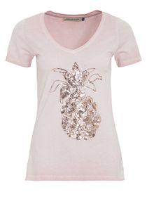 Way of Glory Used Damen T-Shirt Rosa