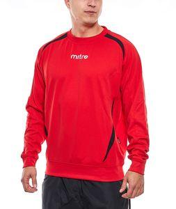 mitre Sport-Sweater Funktions-Pullover gefütterter Herren Pullover mit Print Rot