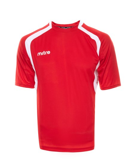 miter jersey football shirt breathable mens sports jersey with logo print red  white