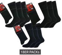 18er Pack Pierre Cardin Strümpfe klassische Business-Socken mit hohem Baumwollanteil