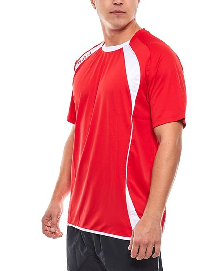 miter jersey football shirt sporty mens fitness jersey with logo print red  white