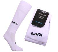 mitre Sport-Socken Kinder-Socken eng anliegende Damen Fußball-Socken Weiß/Schwarz