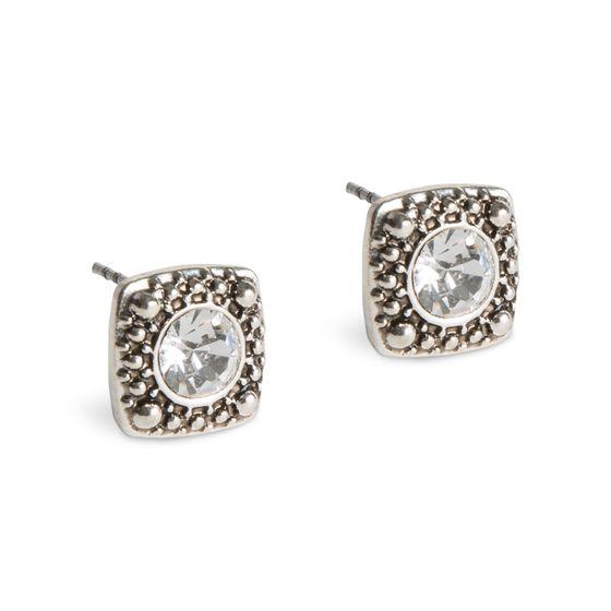 PERLES POUR LES FILLES Boucles doreilles pour femmes Clous brillants avec cristaux de verre Argent