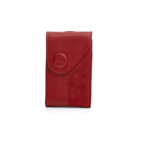 Lowepro Camera Bag Compact Genuine Leather Case Credit Card Case Napoli 5 Red