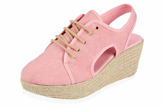 Tamaris Pink Wedge Sandal For Women: Buy Online at Best