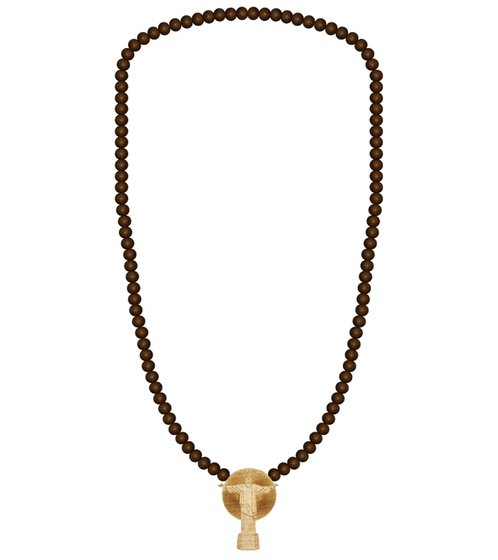 WOOD FELLAS Wood Necklace Cool Fashion Jewelry with Wood Pendant Necklace Brown