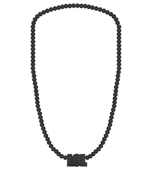 WOOD FELLAS bijoux fantaisie collier de bois cool avec pendentif LOL Noir
