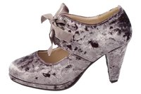 Andrea Conti SHOES Pumps samtige Damen Absatz-Schuhe mit Schnürung Lila – Bild 1