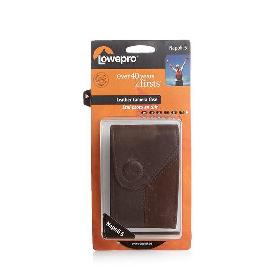 Lowepro Echtleder-Tasche praktische Kamera-Tasche Kreditkarten-Etui Napoli 5 Braun