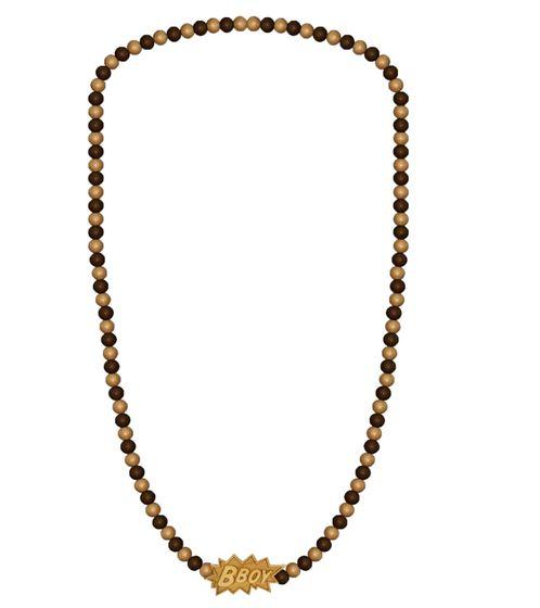 WOOD FELLAS wooden necklace trendy fashion jewelry with pendant BBoy Beige