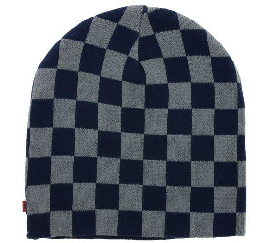 C3 Beanie Retro Skater Hat Knitted Hat Navy / Gray