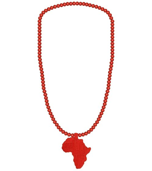 WOOD FELLAS neck jewelry loose wood necklace with pendant Africa red