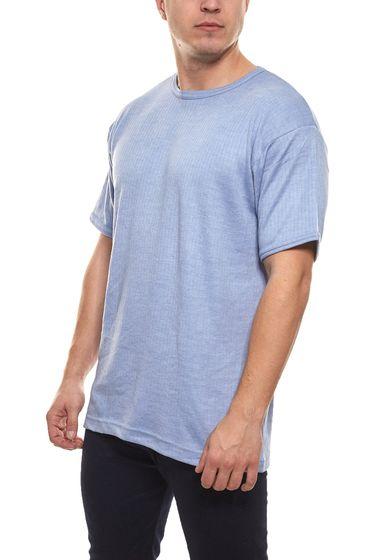 Xcelcius Short Sleeve Shirt Warming Men´s Thermal Underwear Poly Vee Light Blue