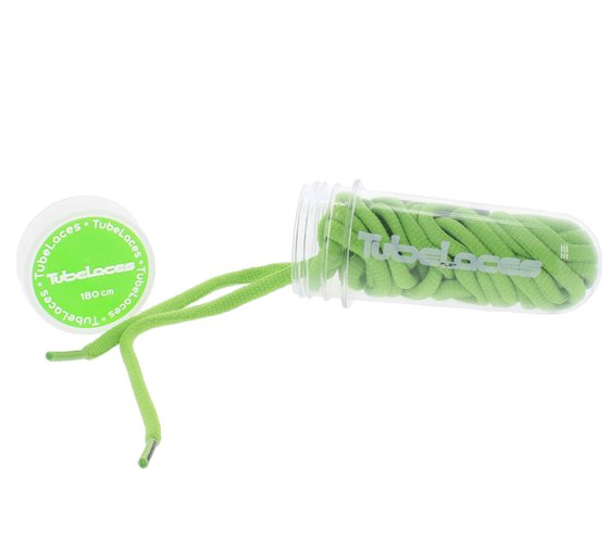 TubeLaces shoelaces greasy shoe shoelaces green