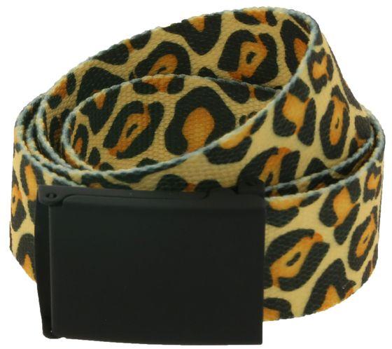 MasterDis textile belt stylish belt in animal print cheetah multicolor