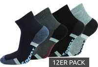 12er Pack GARCIA PESCARA Socken Thermo-Sneaker bequeme Baumwoll-Strümpfe Blau/Grau/Schwarz