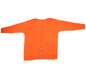 ashley brooke Oversized-Pullover trendiger Damen Herbst-Pullover mit 3/4 Ärmeln Orange – Bild 3