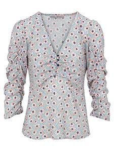 heine Bluse Druck-Bluse feminine Damen 3/4-Arm Vintage-Bluse mit Blumen Design Große Größen Bunt