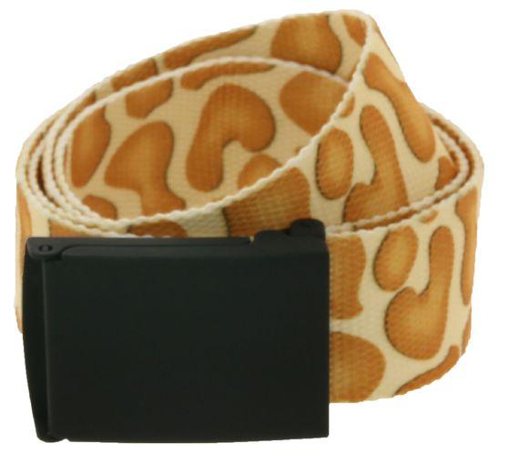 MasterDis Textile Belt Trendy Belt in Animal Print Giraffe Multicolor
