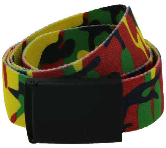 MasterDis Textile Belt Eye-catching fashion belt in camouflage look Colorful