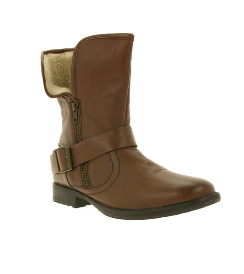 sheego shoes winter boots trendy ladies ankle boot with lining brown