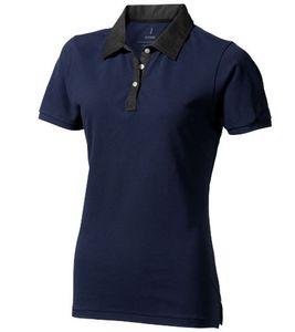 ELEVATE Polo-Hemd bequemes Damen Polo-Shirt Große Größen York Navy