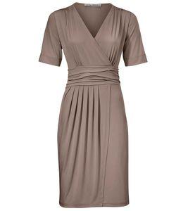 ashley brooke Kleid Wickel-Kleid wunderschönes Damen Jersey-Kleid Grau – Bild 2
