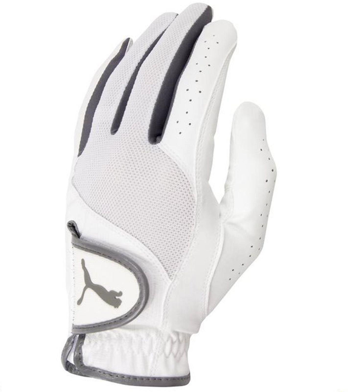 PUMA Golf-Handschuhe atmungsaktive Herren Handschuhe für die linke Hand Weiß