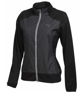 PUMA Trainings-Jacke leichte Damen Golf Wind-Jacke Tech Jacket Schwarz