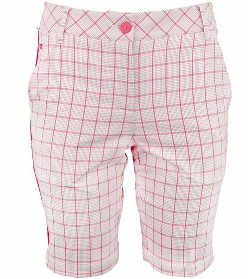 PUMA Hose Bermuda karierte Damen Golf-Shorts Tech Weiß/Rot