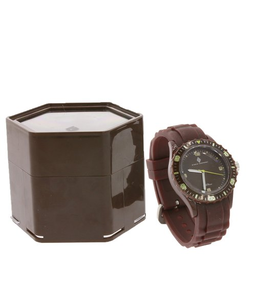 GROOVE TIMEPIECES Watch Sporty Strap Watch Waterproof to 3 ATM Brown