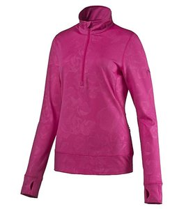 PUMA Sweater modischer Damen 1/4 Zip Sport-Pullover Bloom Pink