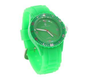 GROOVE TIMEPIECES Uhr knallige Silikon-Armband-Uhr mit Dornschließe Grün – Bild 2