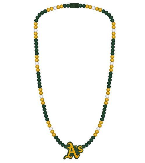 WOOD FELLAS Holz-Kette Kette modische Perlen-Kette mit Holz Oakland-Anhänger Bunt