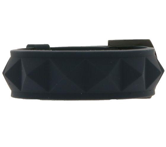 C3 Silikon-Armband schlichter Arm-Schmuck mit Schnallen-Verschluss Dunkelgrau