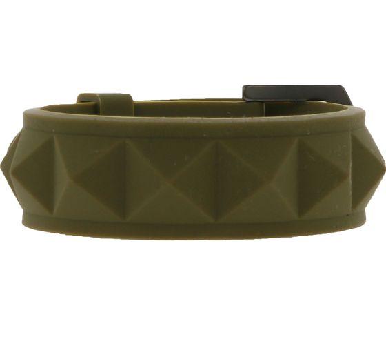 C3 Arm-Schmuck schönes Silikon-Armband mit Schnallen-Verschluss Oliv Grün