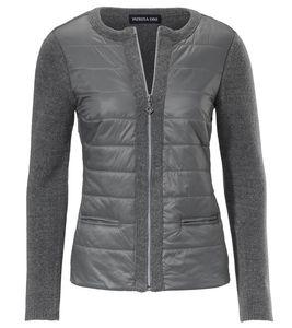 PATRIZIA DINI Jacke Feinstrick-Jacke moderne Damen Woll-Jacke Grau – Bild 2
