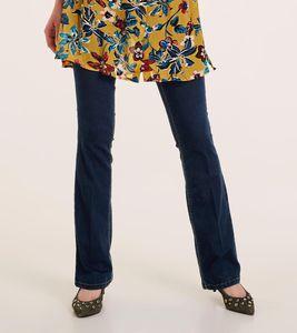 ashley brooke Hose Jeans elegante Damen Jeans-Hose mit Zierknöpfen Blau